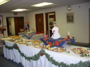 Service of Lessons & Carols / Santa Lucia Vesper Tea  held each December during Advent
